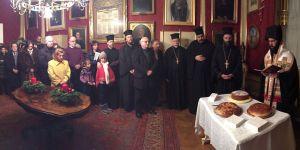 Segnung der Vasilopita am 31. Dezember 2016 im Festsaal der Gemeinde zu Hl. Dreifaltigkeit