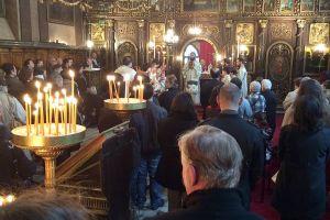 Feier des Palmsonntags in der Kirche vom Heiligen Georg