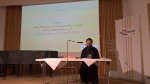 """Weiterlesen: Metropolit Arsenios: """"Heilige und Große Synode war historisches Ereignis"""" / Vortrag bei Pro..."""